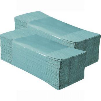 Hajtogatott papírtörülköző - zöld színben