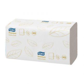 Tork Extra Soft Singlefold kétrétegű fehér színű kéztörlőpapír, Tork 100278