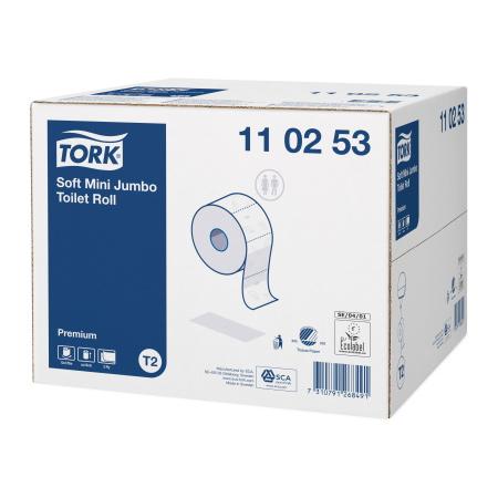 Tork Premium kétrétegű nagytekercses toalettpapír, Tork 110253