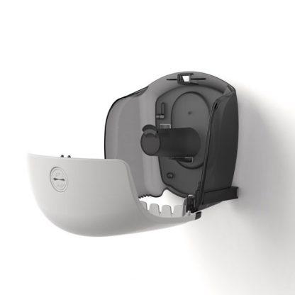 Katrin Gigant S toalettpapír adagoló nyitott állapotban