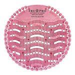 Kör formájú, rózsaszín színű piszoár szűrő