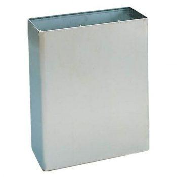 Fedél nélküli fém hulladékgyűjtő rozsdamentes acélból