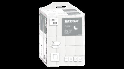 KATRIN Plus hajtogatott 2 rétegű kéztörlő, hófehér, Katrin 35311